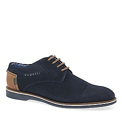 Bugatti - Navy suede 'Felix' Mens Formal Lace Up Shoes