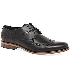 Bugatti - Maroon leather 'Hale' smart lace up shoes