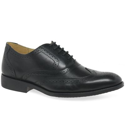Anatomic & 'New Co - Black leather 'New & Charles II' mens brogues 30527a