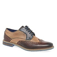 Bugatti - Brown leather 'Finch' wing tip brogues