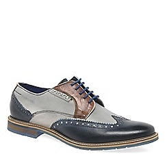 Bugatti - Multi Coloured leather 'Finch' wing tip brogues