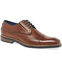 Bugatti - Brown leather 'Ibis' Derby lace up shoes