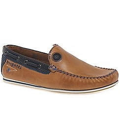 Bugatti - Brown leather 'Ben' moccasins