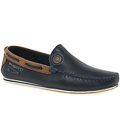 Bugatti - Navy leather 'Ben' moccasins