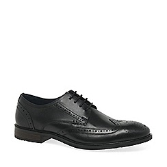 Josef Seibel - Black leather 'Jonathan' mens smart lace up shoes