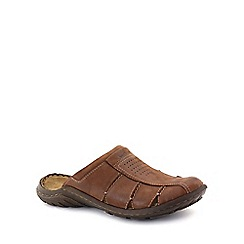 Josef Seibel - Brown 'Logan Closed' mens mules