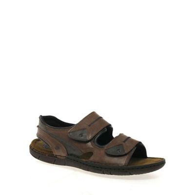Josef Seibel - Brown 'Paul' men's casual leather sandals