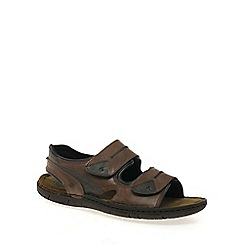 Josef Seibel - Brown 'Paul' men's casual leather sandals
