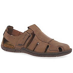 Josef Seibel - Brown leather 'Paul' fisherman sandals