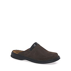 Josef Seibel - Brown 'Max' mens nubuck mules
