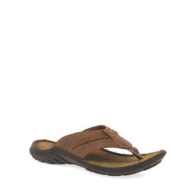 Josef Seibel - Brown 'Logan 25' Toe Post Mens Sandals