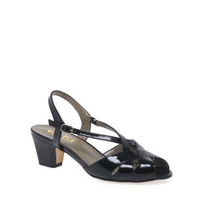 Van Dal - Black patent 'Libby II' wide fit sandals