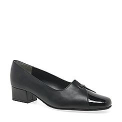 Van Dal - Black dawn block heel wide fit court shoes