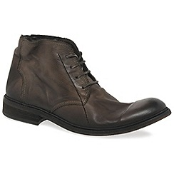Fly London - Brown 'Hobi' mens military boots