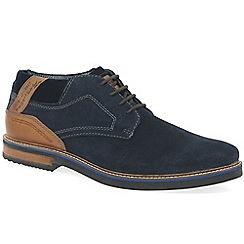Bugatti - Dark blue suede 'Vando' lace up shoes