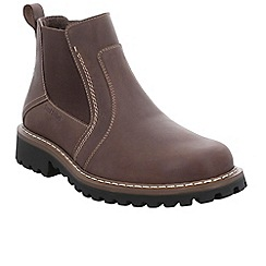 Josef Seibel - Brown leather 'Chance 43' mens Chelsea boots