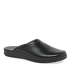 Rohde - Black range leather mens slippers