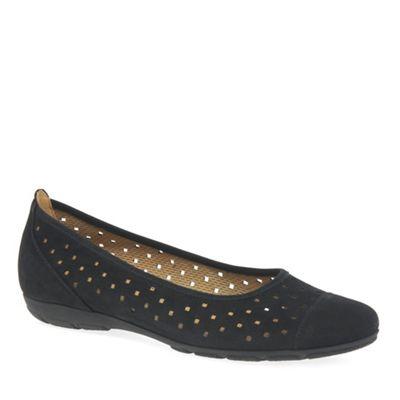 Gabor - Black 'ruffle' women's casual shoes