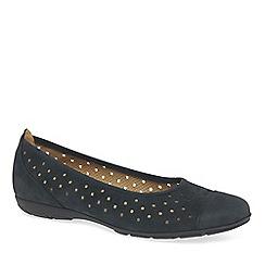 Gabor - Navy 'Ruffle' womens casual shoes