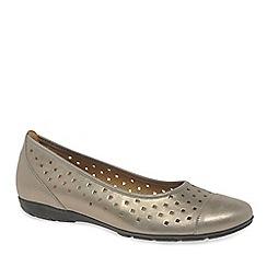 Gabor - Metallic 'ruffle' women's casual shoes