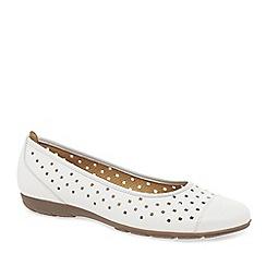 Gabor - White 'Ruffle' womens casual shoes