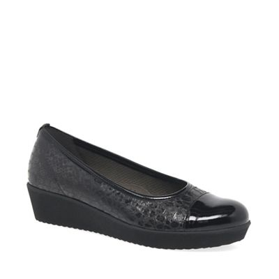 Gabor - Black patent 'Orient' women's casual shoes