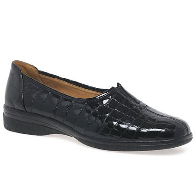 Gabor - Black patent 'Alice' wide fit fit fit casual shoes af63a4