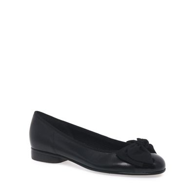 Gabor - Black Amy Ballerina Pumps