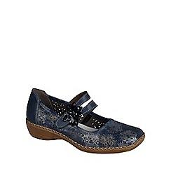 Rieker - Blue 'Date' Flower Trim Mary Jane Shoes