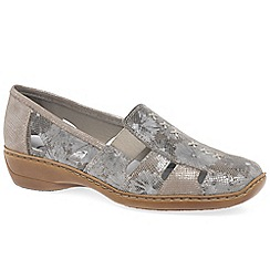 Rieker - Metallic leather 'Denise' flat shoes