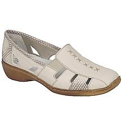 Rieker - Natural 'Denise' slip on vamp shoes