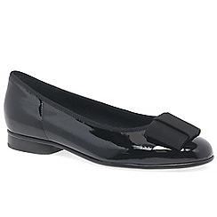 Gabor - Black Patent Assist Ballerina Shoes