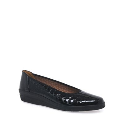Gabor - Black Piquet Fit Wide Fit Piquet Pumps febd7c