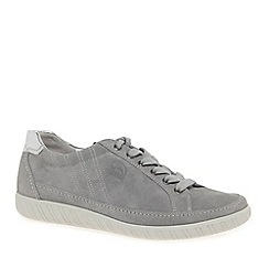 Gabor - Light grey suede 'Amulet' Wide Fit Ladies Sneaker