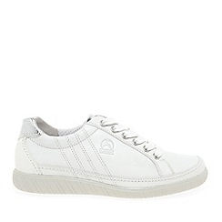 Gabor - White leather 'Amulet' wide fit ladies sneakers