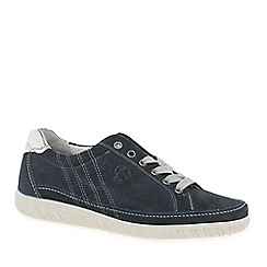Gabor - Mid blue suede 'Amulet' Wide Fit Ladies Sneaker