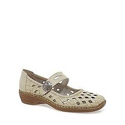 Rieker - White 'Drayton' button trim mary jane shoes