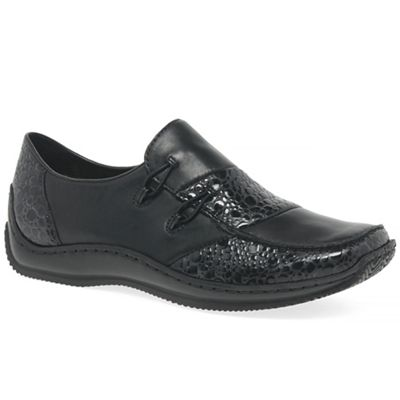 Rieker - Black patent 'Cassie' womens casual shoes