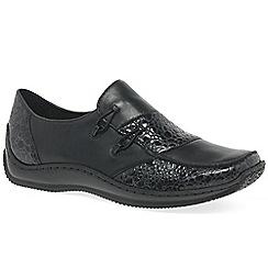 Rieker - Black patent 'Cassie' womens casual shoes