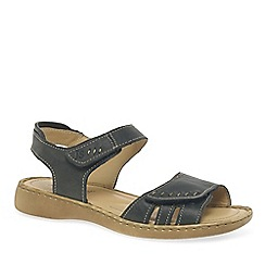 Josef Seibel - Dark blue 'Lisa' velcro womens sandals