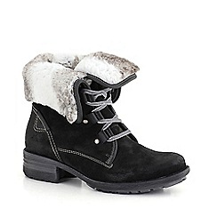 Josef Seibel - Dark grey 'sally' faux fur lined womens ankle boots