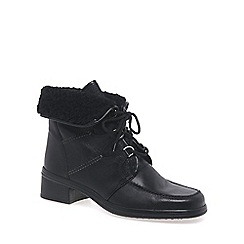 Gabor - Black Rayce Leather Ankle Boot