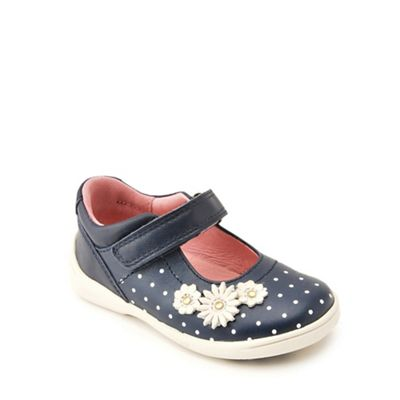 Start-rite - Navy leather 'Super Soft Daisy' Mary Jane shoes