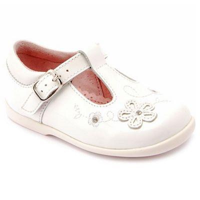 Start-rite - White patent leather 'Sunflower' girls T-bar shoes