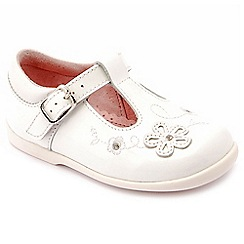 Start-rite - White patent leather 'Sunflower' girls T-bar shoes