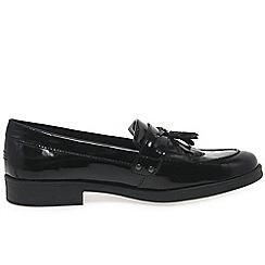 Geox - Girls' black 'Agata Tassle' loafers