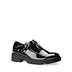 Geox - Black patent  'Junior Casey T-Bar' girls school shoes