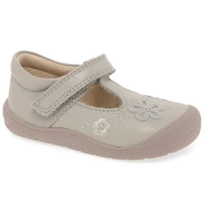 Start-rite - Girls' taupe leather 'First Mia' t-bar shoes