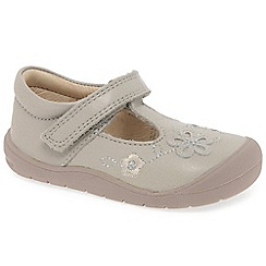 Startrite - Girls' taupe leather 'First Mia' t-bar shoes