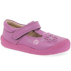 Startrite - Girls' bright pink leather 'First Mia' t-bar shoes
